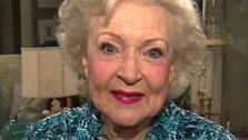 Betty White talks to OnTheRedCarpet.com in December 2010 on the set of Hot in Cleveland. - Provided courtesy of OTRC