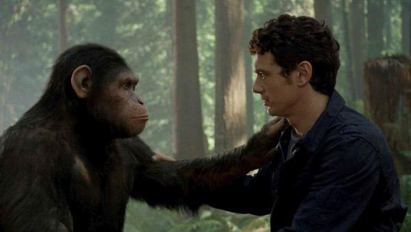 James Franco appears in a still from The Rise of the Planet of the Apes. - Provided courtesy of 20th Century Fox