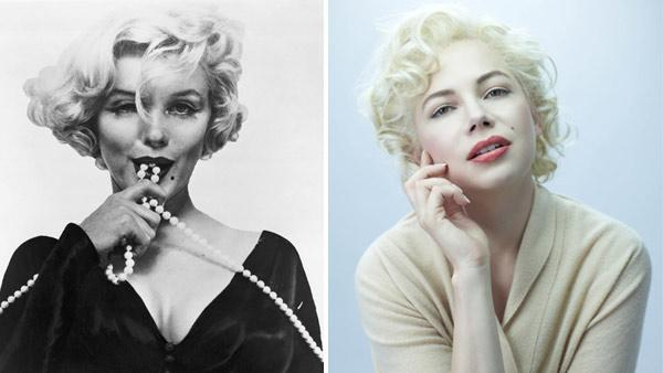 Marilyn Monroe appears in a still from Some Like it Hot. / Michelle Williams appears in a still from My Week with Marilyn. - Provided courtesy of Metro-Goldwyn-Mayer Studios Inc. / BBC Films / The Weinstein Company