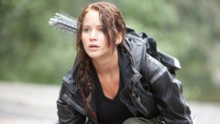 Jennifer Lawrence appears in a scene from The Hunger Games.