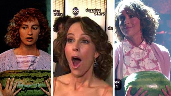 Pictured: Jennifer Grey appears in a scene from Dirty Dancing. / Jennifer Grey talks to OnTheRedCarpet.com after a performance on Dancing With The Stars in November 2010. / Jennifer Grey appears on Dancing With The Stars in November 2010. - Provided courtesy of KABC / Great American Films Limited Partnership / Vestron Pictures