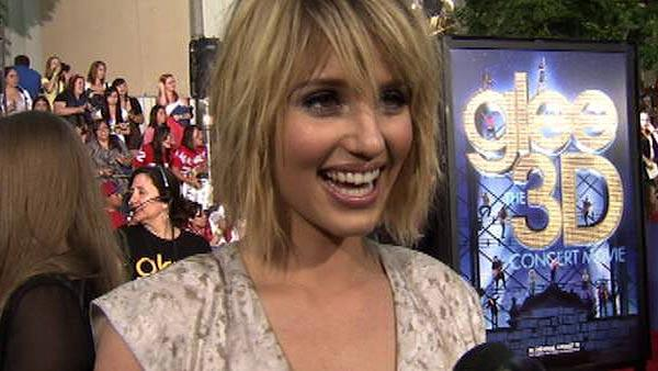 Dianna Agron talks to OnTheRedCarpet.com at the premiere of Glee the 3D Concert Movie in Los Angeles on Aug. 6, 2011. - Provided courtesy of OTRC