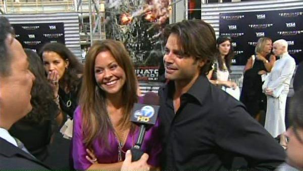 Brooke Burke and David Charvet talk to KABC at the premiere of 'Terminator Salvation' on May 14, 2009.