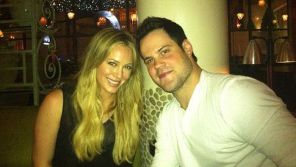 Hilary Duff and husband Mike Comrie in a photo from her official Twitter page. - Provided courtesy of Twitter.com/HilaryDuff