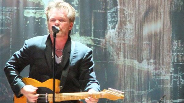 John Mellencamp appears on stage in Vigevano, Italy on July 9, 2011, as seen in this fan photo. - Provided courtesy of facebook.com/johnmellencampdotcom