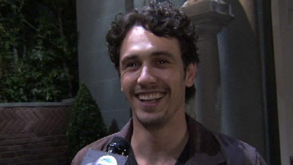 James Franco talks to OnTheRedCarpet.com on the set of General Hospital in August 2011. - Provided courtesy of OTRC