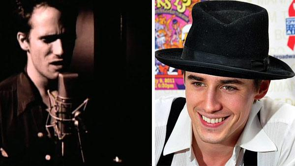 Jeff Buckley appears in a music video for his 1994 single, Hallelujah. / Reeve Carney attends 13th Annual Broadway Barks Benefit on July 9, 2011 at Shubert Alley in New York City. - Provided courtesy of Sony BMG Music Entertainment / Nick Stepowyj / flickr.com/photos/nickstep