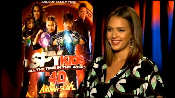 Jessica Alba talks to OnTheRedCarpet.com about 'Spy Kids: All the Time in the World in 4D.'