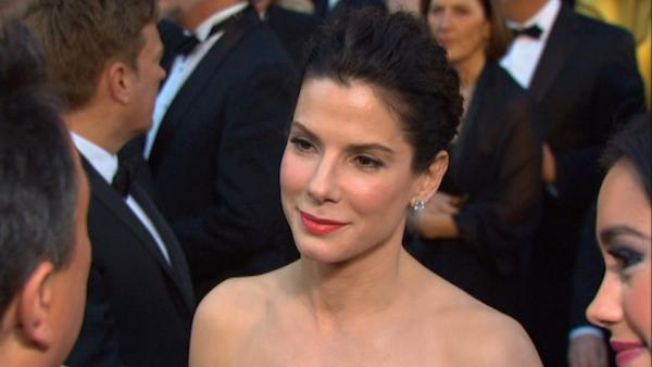 Oscar-winning actress Sandra Bullock talks to OnTheRedCarpet.com on the 2011 Oscar red carpet.