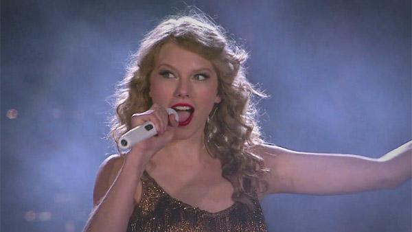 Taylor Swift appears in a scene from her music video 'Sparks Fly,' which was released on Aug. 10, 2011.
