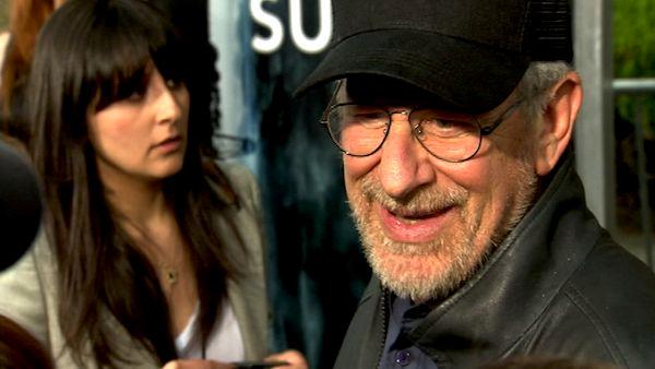 Steven Spielberg talks to OnTheRedCarpet.com  at the premiere of the film 'Super 8' in Los Angeles, Wednesday, June 8, 2011.