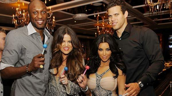 Lamar Odom, Khloe Kardashian, Kim Kardashian and Kris Humphries are seen in a June 17, 2011 photo posted on Khloes official website. - Provided courtesy of khloekardashian.celebuzz.com