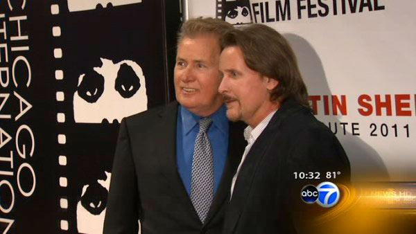 Martin Sheen and Emilio Estevez appear at the 47th Chicago International Film Festival on August 19, 2011. - Provided courtesy of WLS / WLS-TV Chicago
