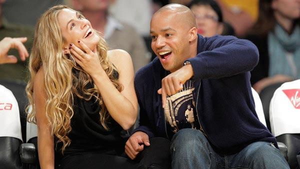 Donald Faison and CaCee Cobb appear in a photo posted on Cobb's Facebook page on May 28, 2010.