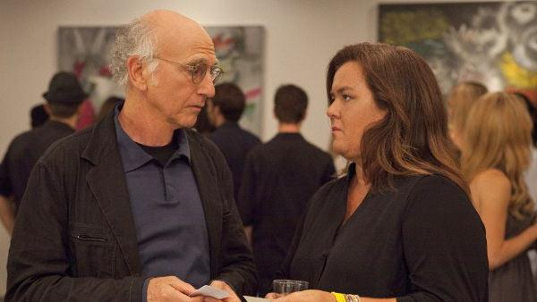 Rosie ODonnell and Larry David appear in a scene from a 2011 episode of Curb Your Enthusiasm. - Provided courtesy of HBO