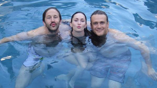 Megan Fox, Chris ODowd and Jason Segel appears in a photo posted on her official Facebook page on August 20, 2011. - Provided courtesy of OTRC / Facebook.com/MeganFox