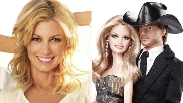 Faith Hill appears in a promotional photo for her second fragrance, Faith Hill True/ A promotional photo of the Faith Hill and Tim McGraw Barbie dolls. - Provided courtesy of BarbieCollector.com/faithhillfragrances.com/#/fragrancetrue