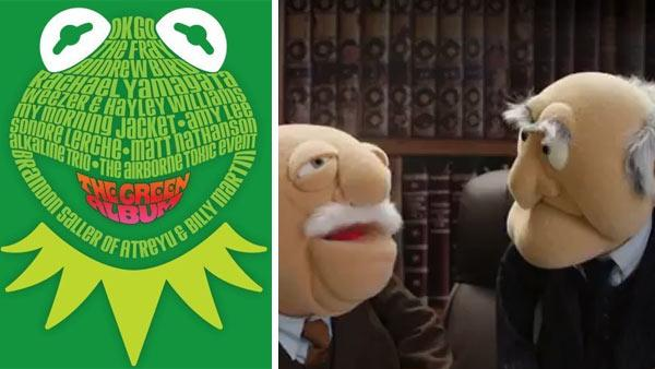The cover of Muppets: The Green Album / Statler and Waldorf appear in OK Gos music video for The Muppet Show Theme Song, featured on the Muppets: Green Album, which was released on Aug. 23, 2011. - Provided courtesy of Walt Disney Company