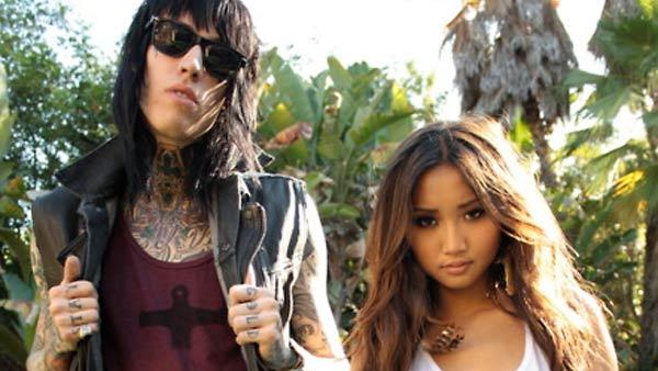 Trace Cyrus and Brenda Song appear in a promotional photo for the Southern Made Hollywood Paid Summer 2011 clothing line. - Provided courtesy of Southern Made Hollywood Paid