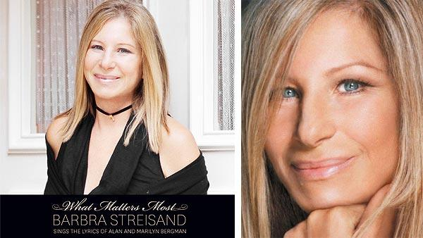 Barbra Streisand appears on the cover of her 2011 album What Matters Most. / Barbra Streisand appears in a photo posted on her Twitter page. - Provided courtesy of Columbia Records / twitter.com/BarbraStreisand