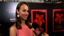 Zoe Saldana talks to OnTheRedCarpet.com at a screening for Colombiana in August 2011. - Provided courtesy of OTRC