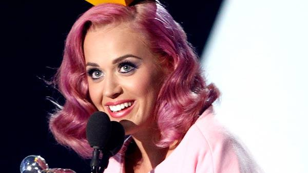 Katy Perry accepts the award for video of the year for Firework at the MTV Video Music Awards on Sunday Aug. 28, 2011, in Los Angeles. - Provided courtesy of AP / Matt Sayles