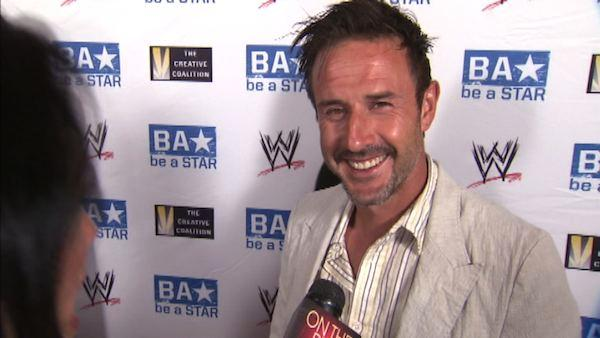 David Arquette speaks to OnTheRedCarpet.com at the WWE SummerSlam Kickoff Party in Los Angeles in August 2011.