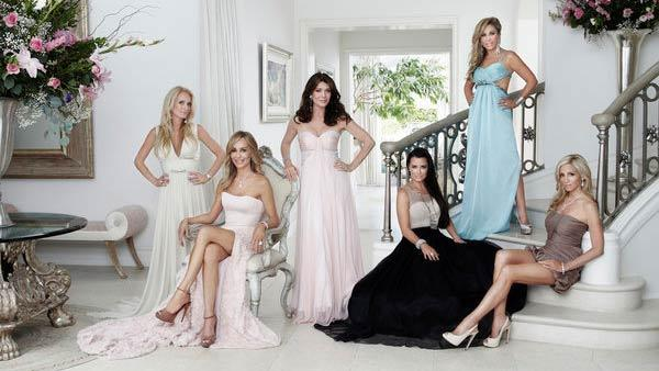 Kim Richards, Taylor Armstrong, Lisa Vanderpump, Kyle Richards, Adrienne Maloof, Camille Grammer appear in a promotional photo for the second season of The Real Housewives of Beverly Hills. - Provided courtesy of Bravo