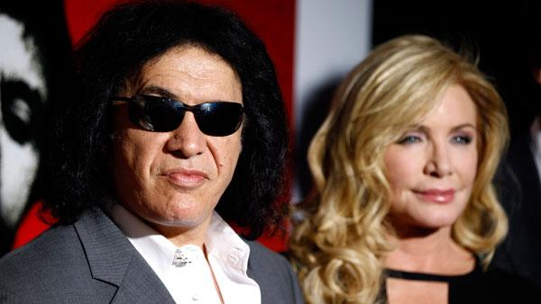 Gene Simmons, left, and Shannon Tweed arrive at Scarface Legacy Celebration Event in Los Angeles, Tuesday, Aug. 23, 2011. - Provided courtesy of ABCNews / Matt Sayles