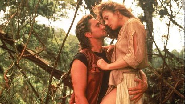Michael Douglas and Kathleen Turner appear in a scene from the 1984 movie Romancing The Stone. - Provided courtesy of Twentieth Century Fox