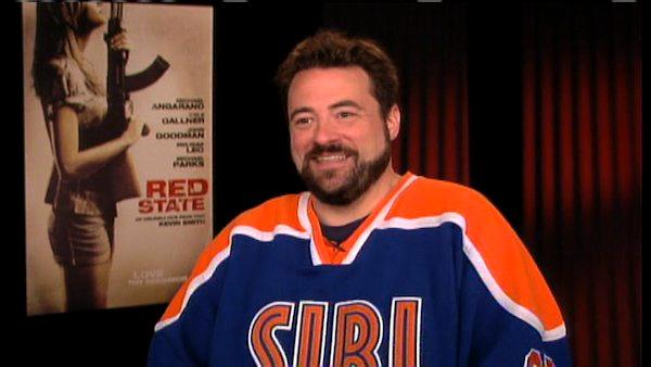 Kevin Smith talks to OnTheRedCarpet.com in a press junkett for Red State.