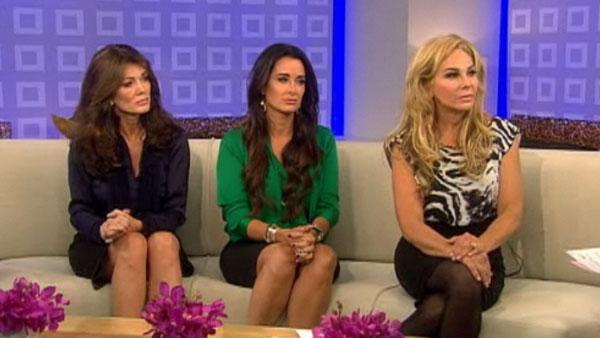 Kyle Richards, Lisa Vanderpump and Adrienne Maloof appear on the Today Show on September 5, 2011. - Provided courtesy of NBC