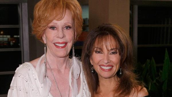 Carol Burnett and Susan Lucci appear in a promotional photo for All My Children. - Provided courtesy of ABC / Rick Rowell