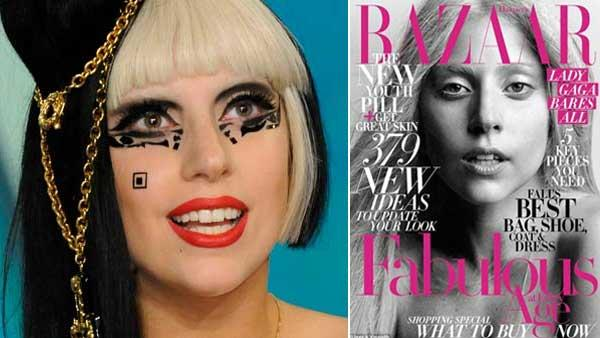 Lady Gaga appears on The View on May 23, 2011, the day her Born This Way album was released. / Lady Gaga appears on the October 2011 issue of Harpers Bazaar. - Provided courtesy of ABC / Harpers Bazaar