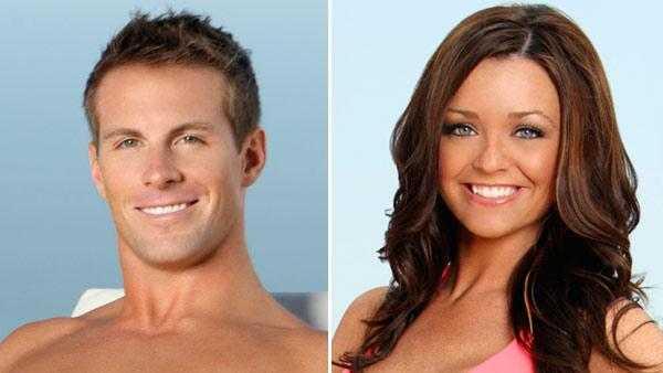 Blake Julian and Holly Durst appear in promotional photos for Bachelor Pad. - Provided courtesy of ABC / Craig Sjodin