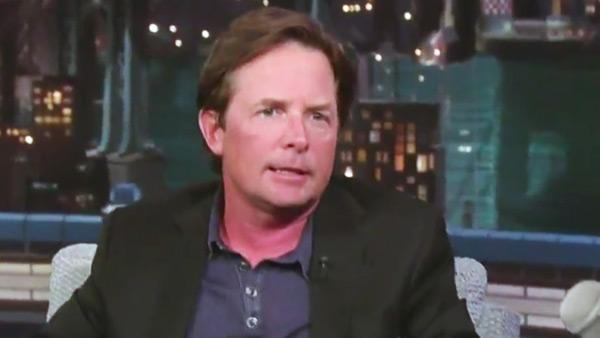 Michael J. Fox appears in on the Late Show with David Letterman on September 8, 2011. - Provided courtesy of CBS