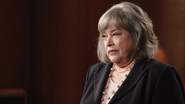Kathy Batess appears in a still from Harrys Law. - Provided courtesy of NBC Universal / Jordin Althaus