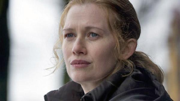 Mireille Enos appears in a still from The Killing. - Provided courtesy of AMC / Carole Segal