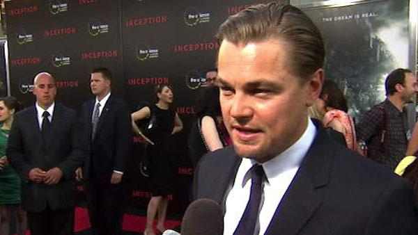Leonardo DiCaprio speaks to OnTheRedCarpet.com at the premiere of 'Inception' in Los Angeles in July 2010.