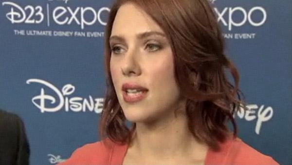 Scarlett Johansson talks about the actress cat suit costume she dons in The Avengers. - Provided courtesy of OTRC