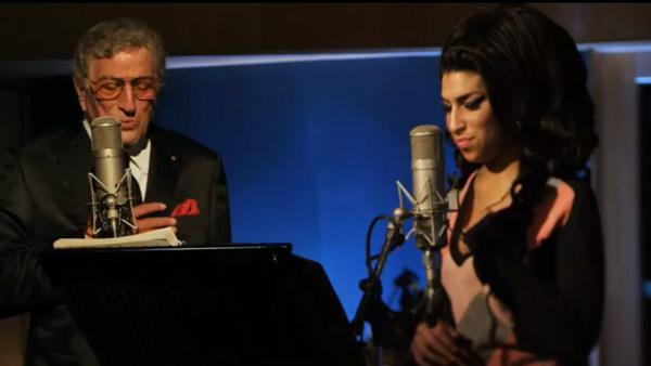 Amy Winehouse and Tony Bennett appear in a still from their Body and Soul music video. - Provided courtesy of Sony Music Entertainment