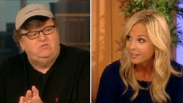 Michael Moore appears on the ABC show The View on Sept. 14, 2011. / Elisabeth Hasselbeck appears on the ABC show The View on Sept. 14, 2011. - Provided courtesy of ABC