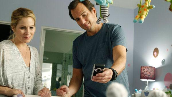 Christina Applegate and Will Arnett appear in a promo for NBCs new comedy, Up All Night. - Provided courtesy of NBC