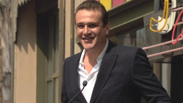 Jason Segel speaks at his co-star Neil Patrick Harris' star ceremony on the Hollywood Walk of Fame on Sept. 15, 2011.
