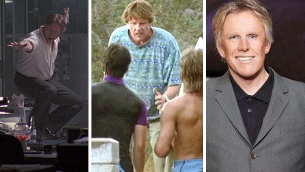 Gary Busey appears in scenes from the 1991 movie Point Break. / Gary Busey appears in a promotional photo for Celebrity Apprentice in 2011. - Provided courtesy of JVC Entertainment Networks / Largo Entertainment / 20th Century Fox / NBC