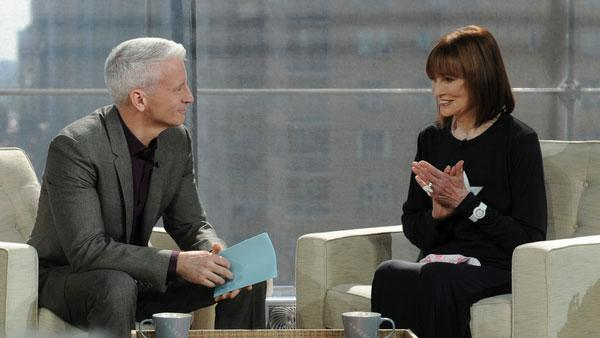 Anderson Cooper and his mother Gloria Vanderbilt appear on Coopers talk show in September 2011. - Provided courtesy of AndersonCooper.com