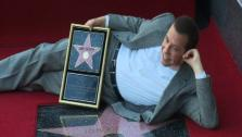 Jon Cryer appears on his Hollywood star on the Walk of Fame on Sept. 19, 2011. - Provided courtesy of OTRC