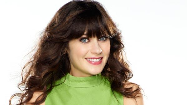 Zooey Deschanel appears in a promotional photo...