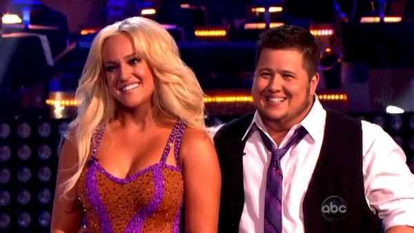 LGBT activist Chaz Bono and his partner Lacey Schwimmer received 17 out of 30 from the judges for their Cha Cha on the season premiere of 'Dancing With The Stars.'