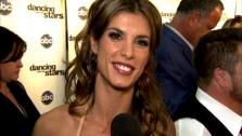 Elisabetta Canalis talks to OnTheRedCarpet.com after the premiere of Dancing With The Stars on September 19, 2011. - Provided courtesy of OTRC